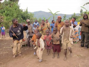 Batwa people near Kisoro