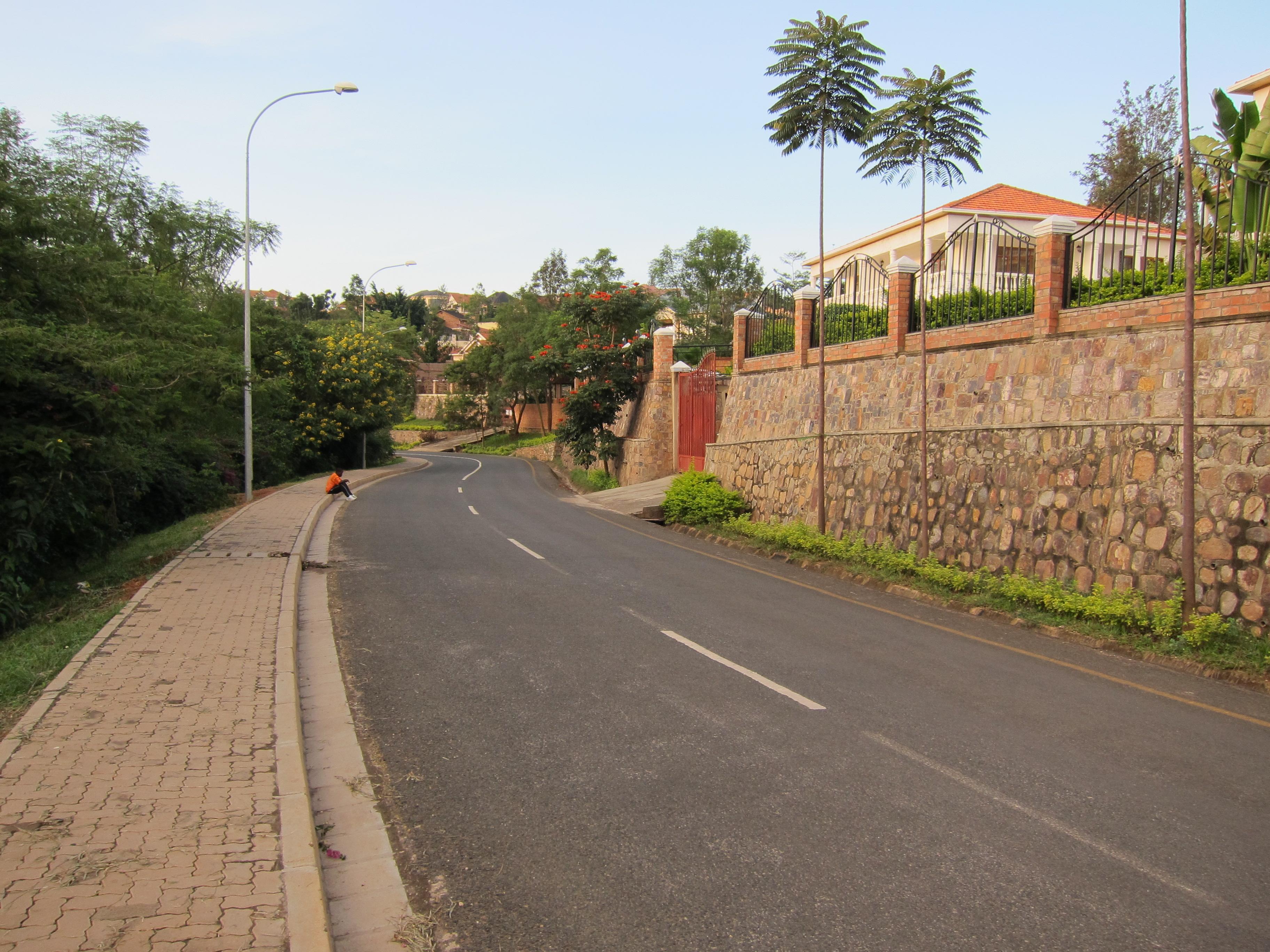 Calm street in Kigali